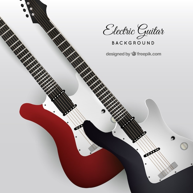 Electric guitar background Vector | Free Download