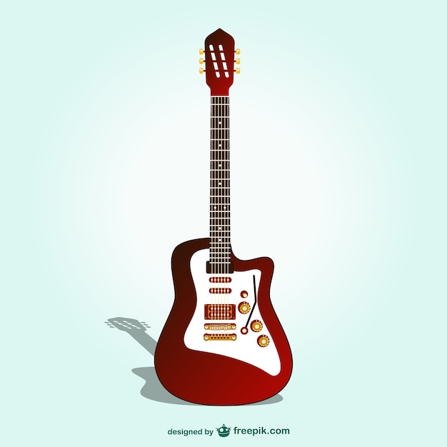Electric guitar vector Vector | Free Download