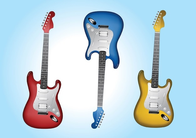 Electric Guitars Vector | Free Download