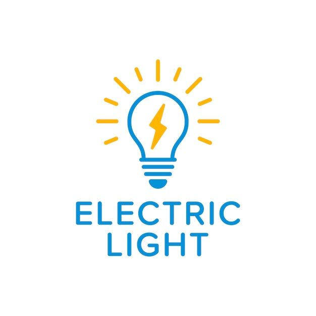 electric light logo vector premium download