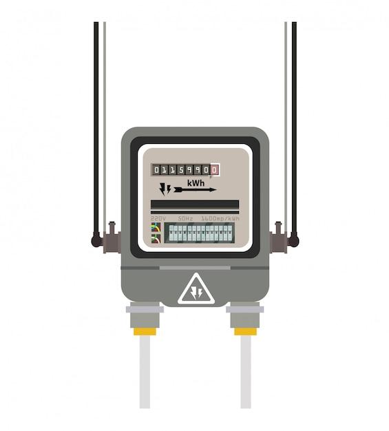 Electric meter Premium Vector