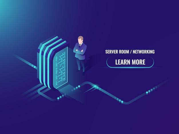 Electric power station, energy generator, isometric server