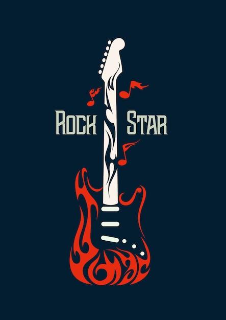 Electric rock guitar vector image Premium Vector