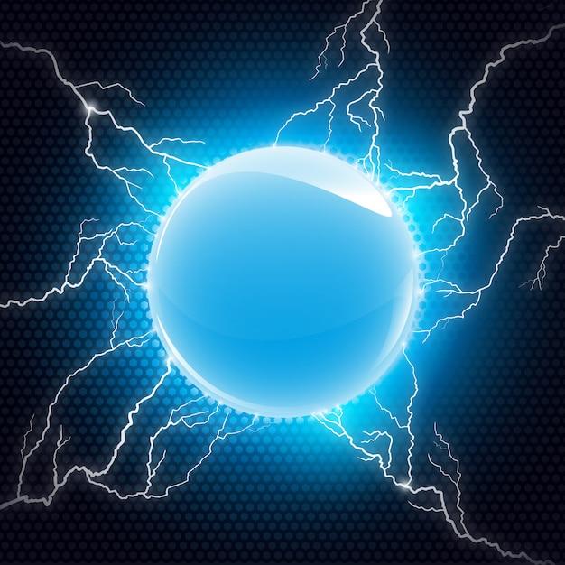 Electric sphere Premium Vector
