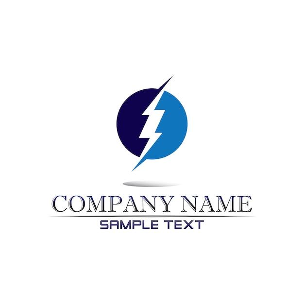 Electric vector lightning icon logo Premium Vector