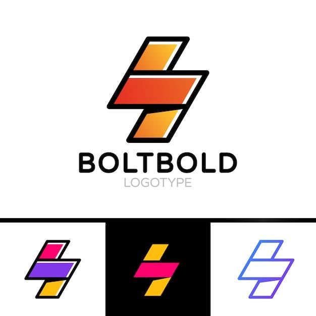 Electrical Logo Concept Lightning Bolt Minimal Simple Symbol Outline Style Flash Sign Design Vector