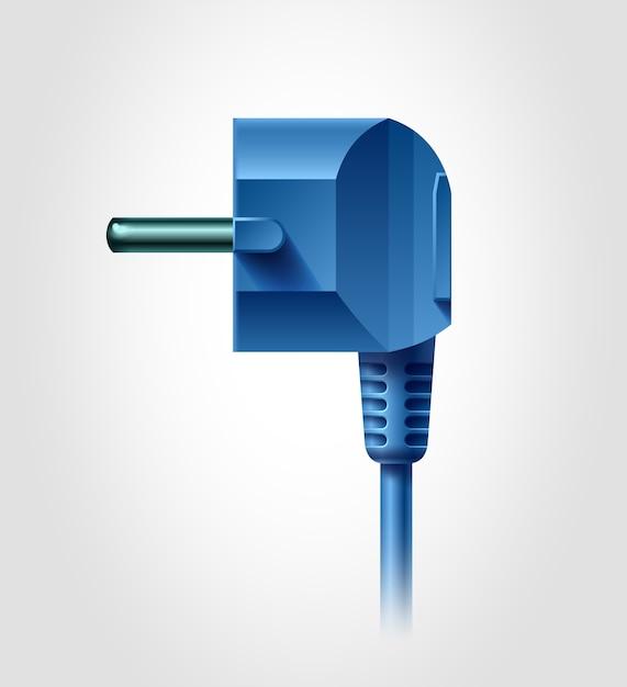 Вид сбоку электрической вилки, реалистичный объект, Premium векторы