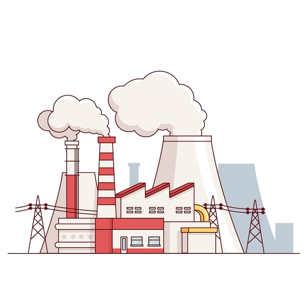 Electrical power production plant Free Vector