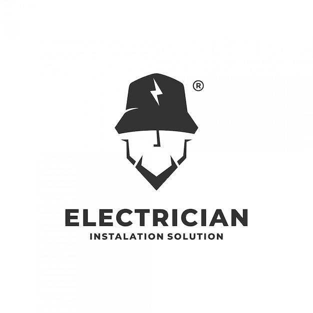 Premium Vector | Electrician logo concept