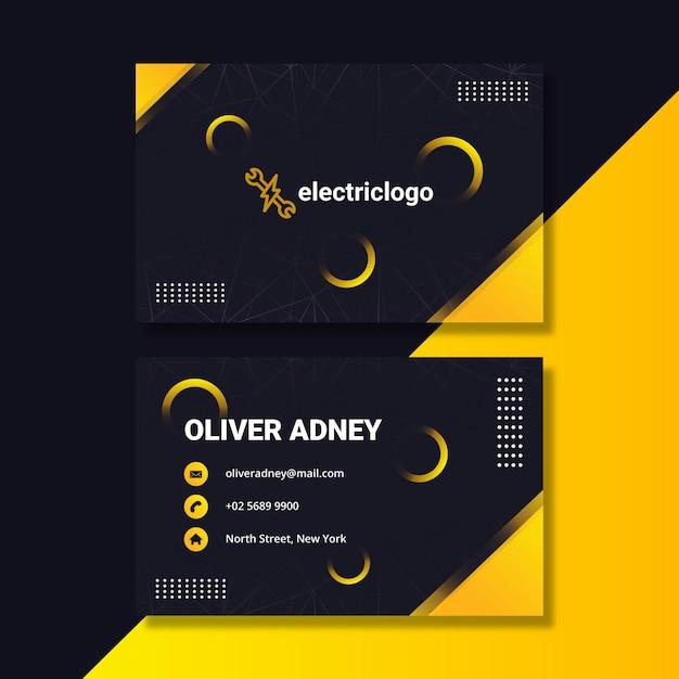 Шаблон визитной карточки человека электрика Бесплатные векторы