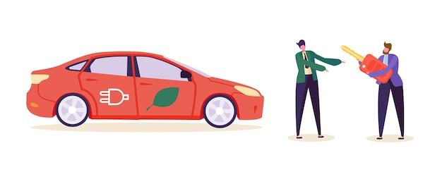 Электро зеленый автомобиль заказчик купить авто. Premium векторы