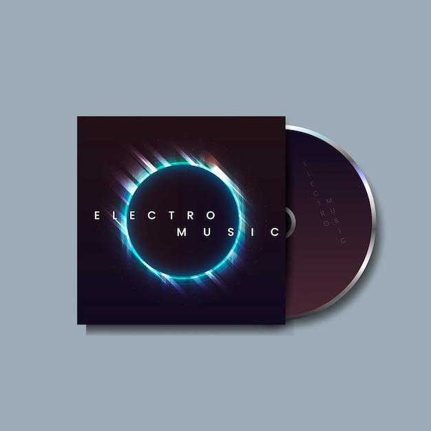エレクトロミュージックアルバム 無料ベクター