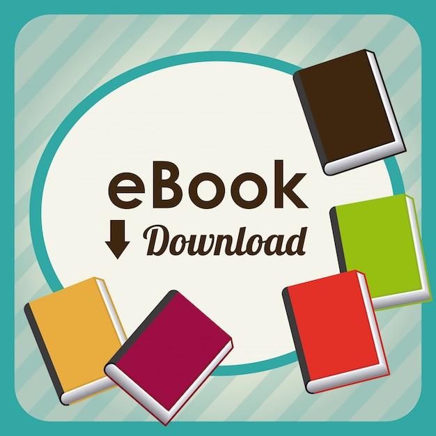 Electronic book design Premium Vector