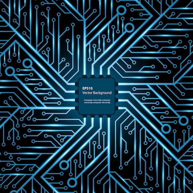 Электронный чип. Premium векторы