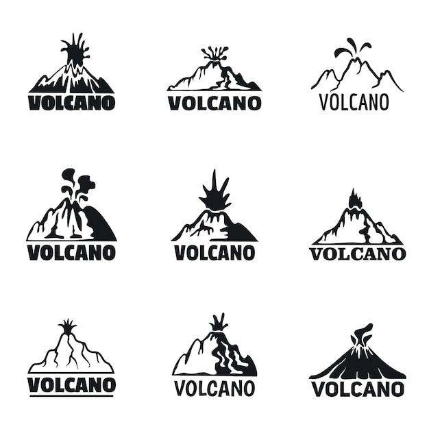 Electronic cigarette mod logo set Premium Vector