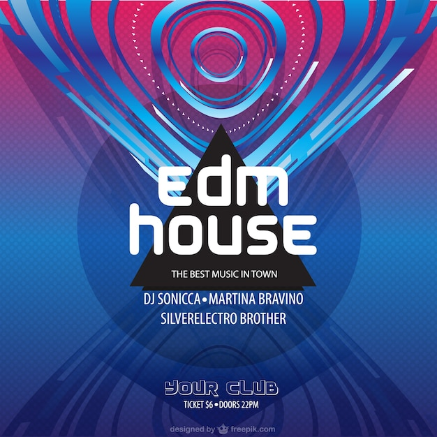 Electronic dance music poster Vector | Free Download