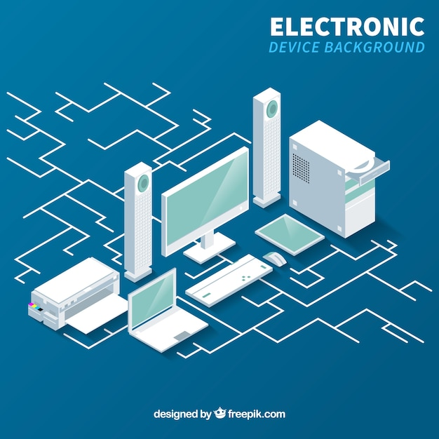 Electronic device background Free Vector