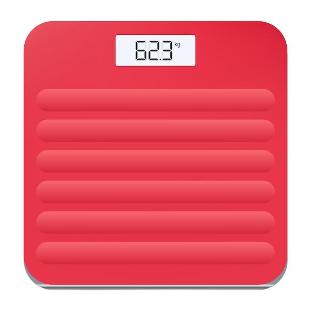 Значок электронных напольных весов для измерения человеческого веса. иллюстрация Premium векторы