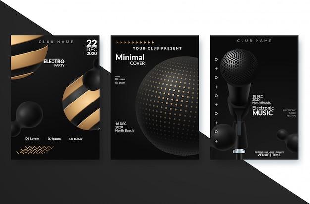 Electronic music festival advertising poster. Premium Vector