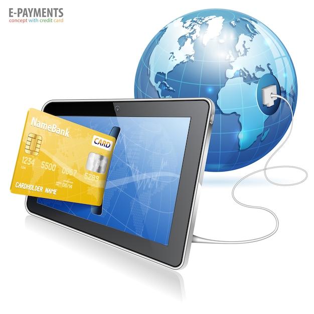 Electronic payment concept Premium Vector