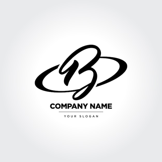 Elegan letter b icon design Premium Vector