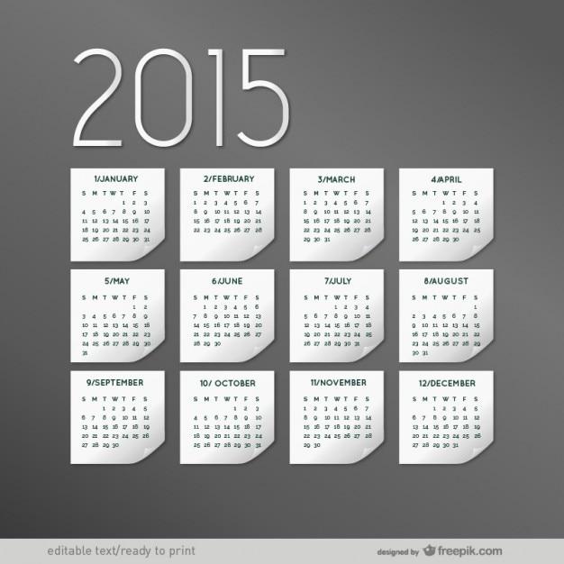elegant 2015 calendar vector free download
