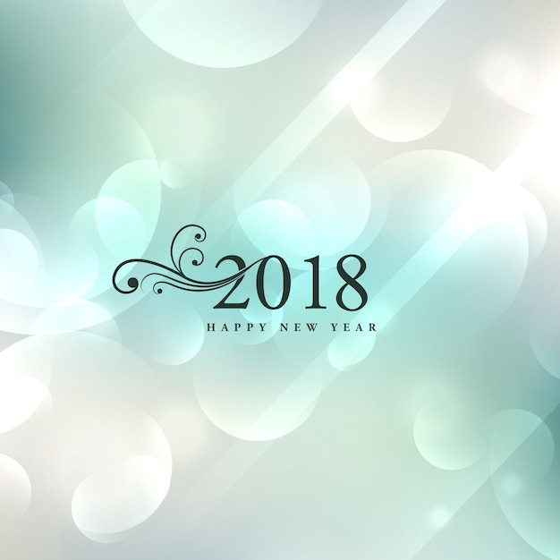 elegant 2018 new year background design free vector