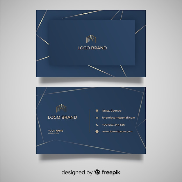 Elegant abstract business card template Free Vector