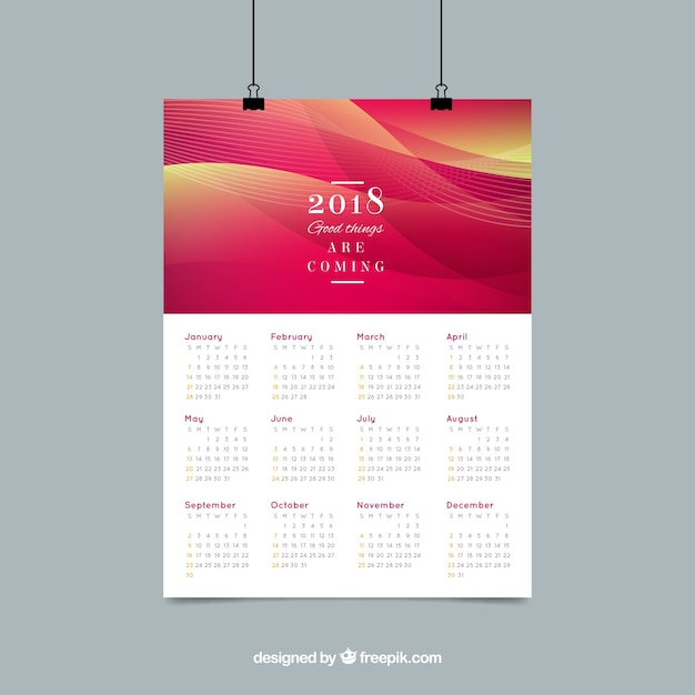 Calendar Design Elegant : Elegant abstract calendar vector free download