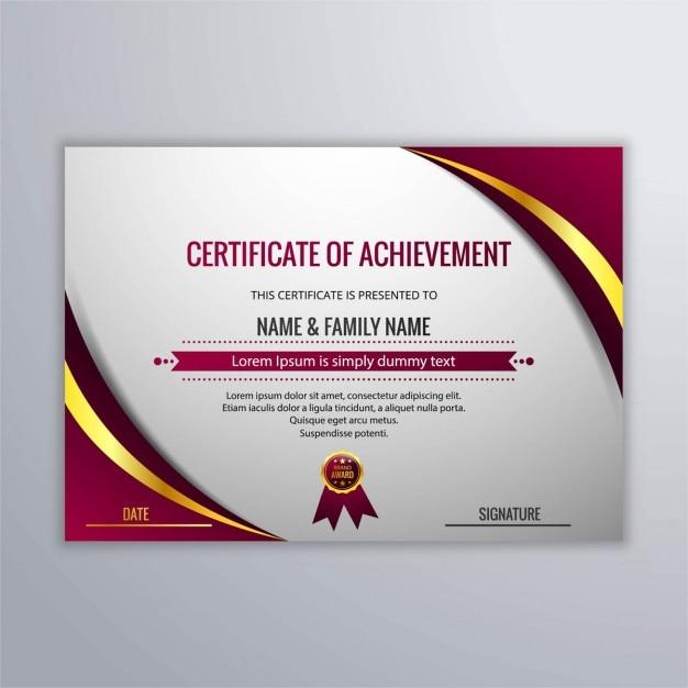 Elegant abstract certificate Vector   Free Download