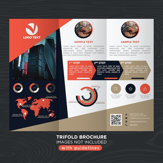 Elegant abstract design trifold brochure template Vector | Free Download