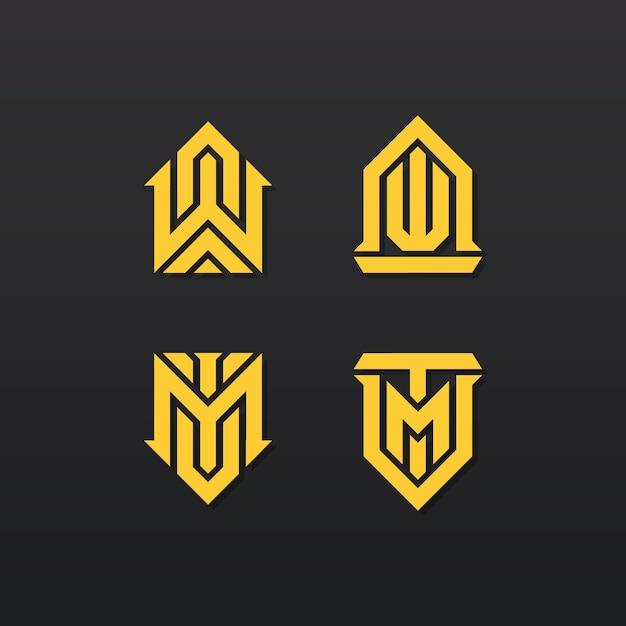 Elegant abstract logo collection Premium Vector