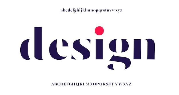 Элегантный шрифт букв алфавита и номер. Premium векторы