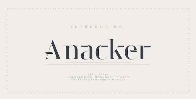 Elegant alphabet letters font and number. classic copper lettering minimal fashion Premium Vector