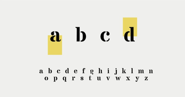Elegant alphabet letters Free Vector