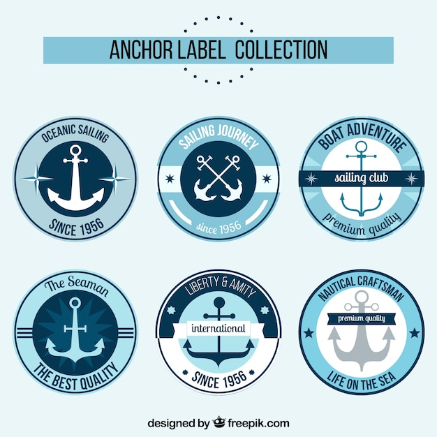 Elegant anchor label collection