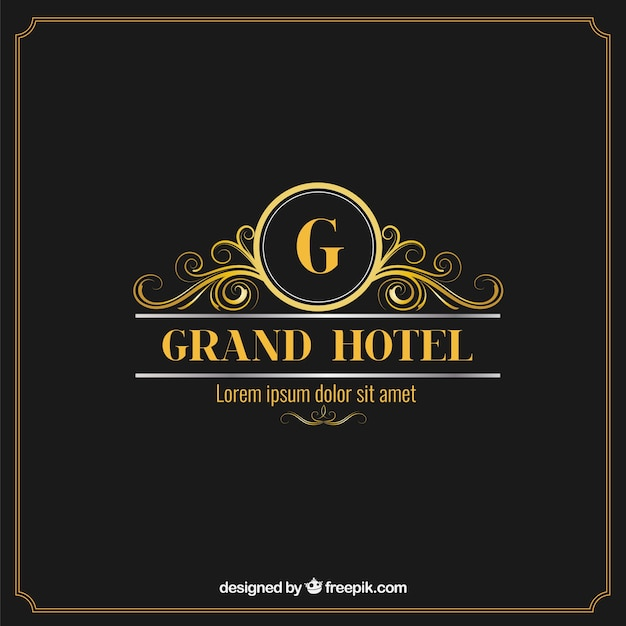 Elegant and luxury hotel logo vector free download for Hotel logo design samples