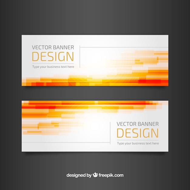 Elegant and modern banners with abstract shapes