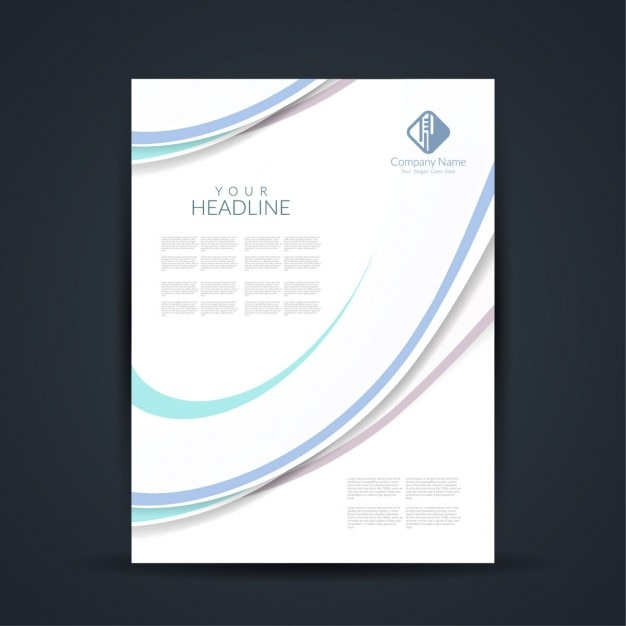 elegant and simple business flyer free vector