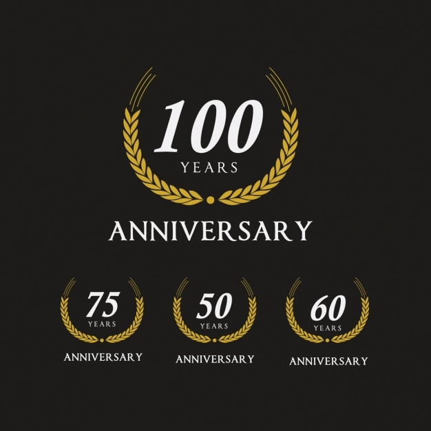 Elegant anniversary logos collection vector free download elegant anniversary logos collection free vector altavistaventures Image collections