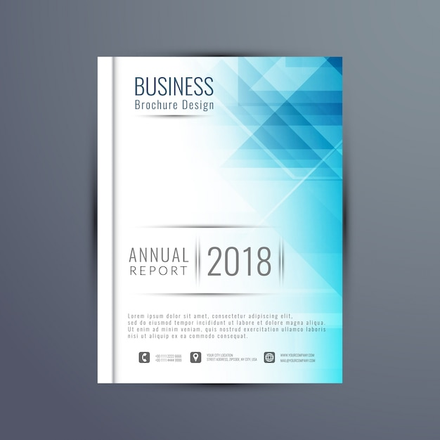 Elegant annual report brochure template vector free download for Elegant brochure templates
