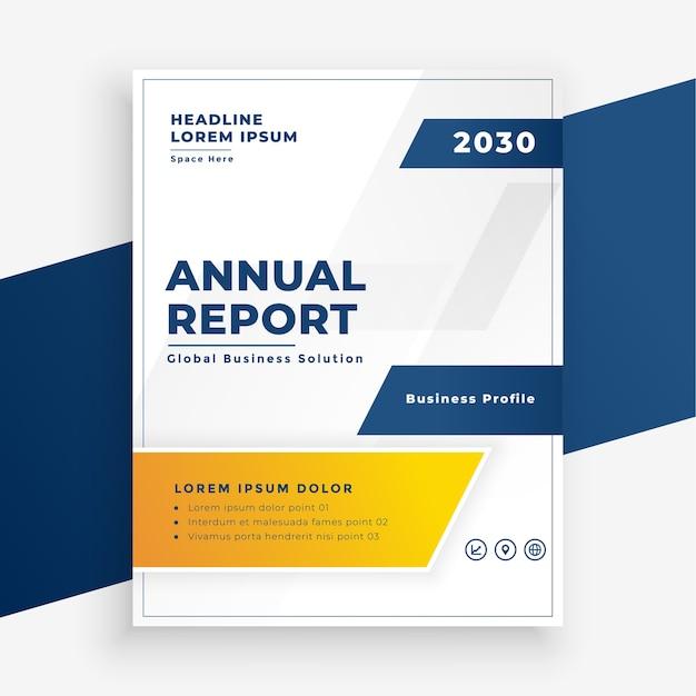 Elegante relazione annuale business flyer design moderno Vettore gratuito