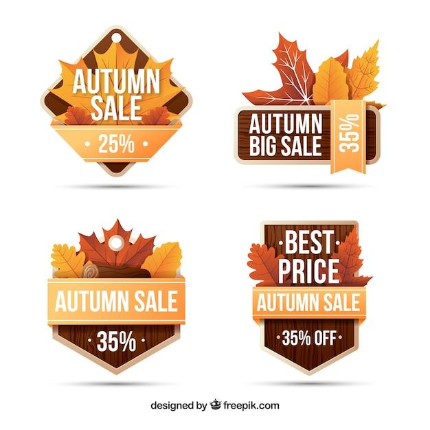 Elegant autumn sale labels