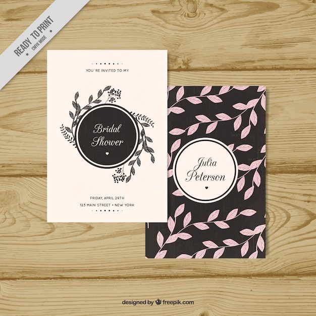 Elegant Bachelorette Invitation Template Vector  Free Download