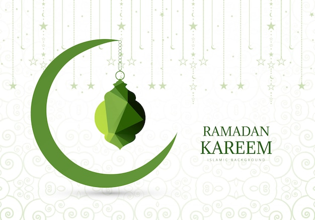 Elegant background for ramadan kareem card Free Vector
