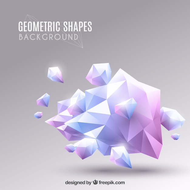 Elegant background with geometric design Free Vector