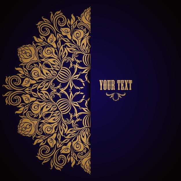 Elegant background with lace ornament Premium Vector