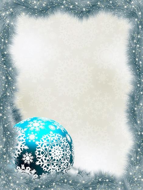 雪片でエレガントな背景。 Premiumベクター