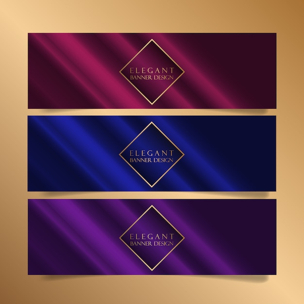 Elegant banner designs Free Vector