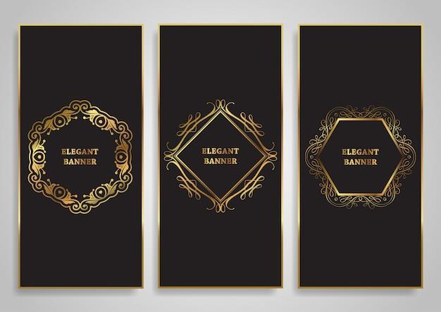 Elegant banner set Premium Vector